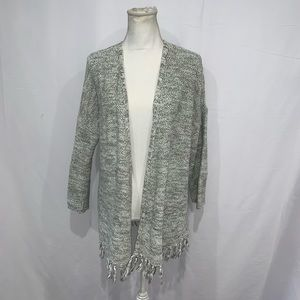 Loft outlet olive green open cardigan sweater